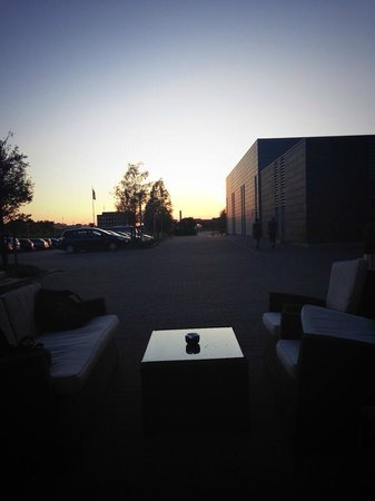Scandic Sluseholmen: Lounge mit Sonnenuntergang