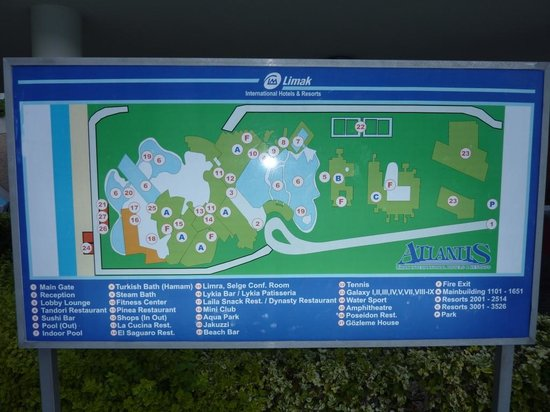 Hotel Map Picture Of Limak Atlantis Deluxe Resort Hotel Belek Tripadvisor