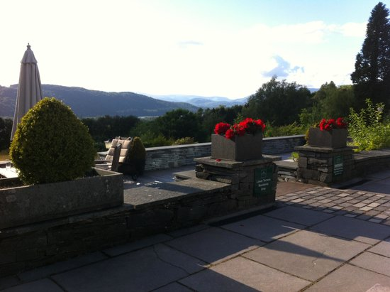 Linthwaite House : view from the terrace