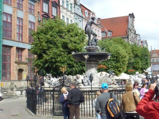 Dluga Street (ul. Dluga): Fontana del Nettuno