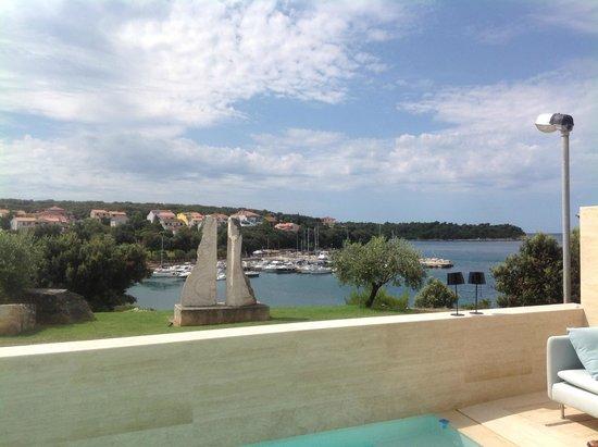 Hotel Valsabbion: zicht op de baai
