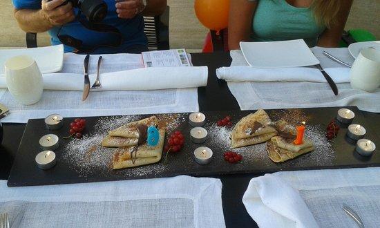 Hotel Valsabbion: verjaardagsattentie bij het ontbijt