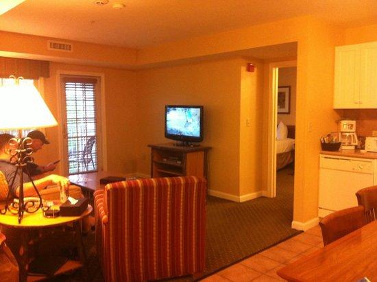 Wyndham at Bentley Brook: Living room and kitchen area
