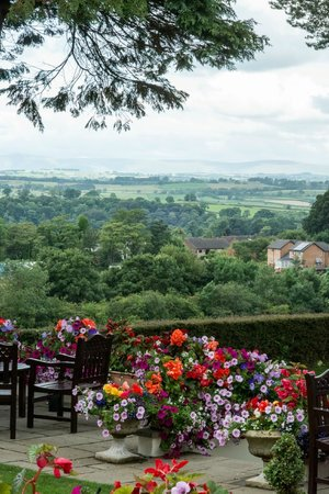 Appleby Manor Hotel & Garden Spa: The view across the grounds from the room