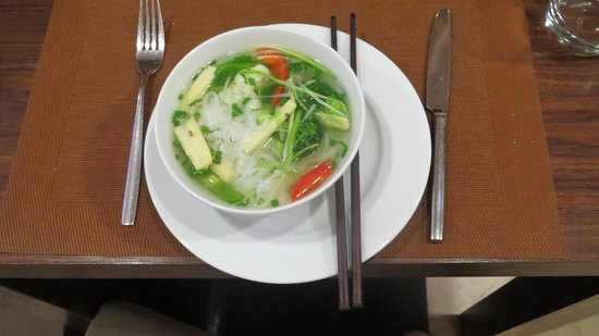 Authentic Hanoi Hotel: Special breakfast made for us....
