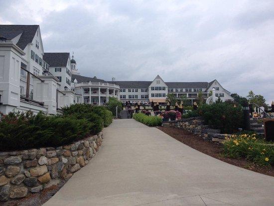 The Sagamore Resort: Back of resort near pool and lake/marina area.