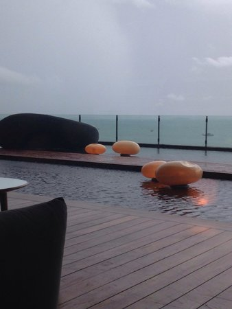 Hilton Pattaya: View from Drift, their bar. It was raining so we were holed up for a drink.