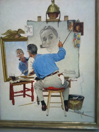 Norman Rockwell Museum: Self - portrait by Norman Rockwell