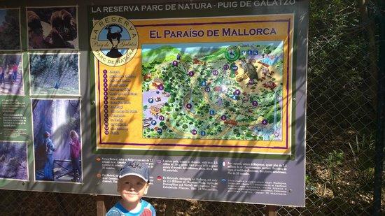 La Reserva Puig de Galatzo, Parc de Natura : карта заповедника