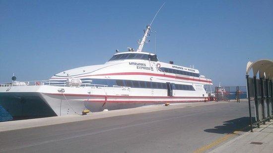 Rhodes: The catamaran