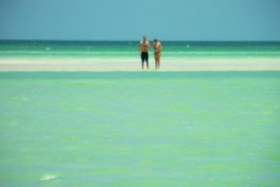 Holbox Hotel Mawimbi: Sand bar further down the island