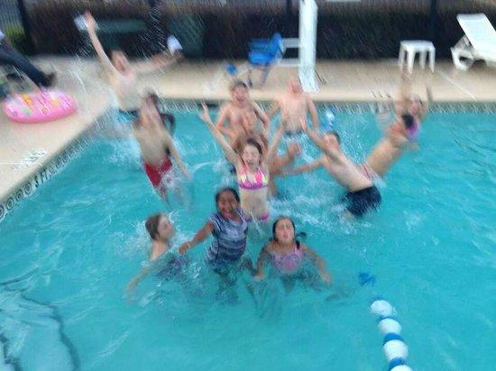 Quality Inn: Kids in the pool