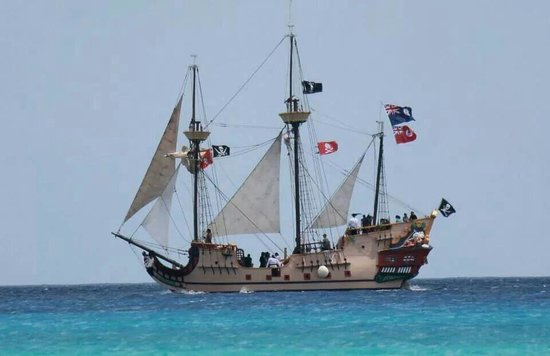 The Jolly Roger: As she sailed by,  never seen her with her sails