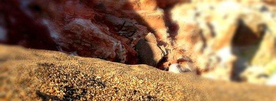 Paliochori Beach: The rock formations