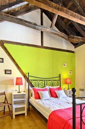 Bedroom in one of El Granado's apartments