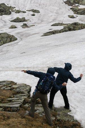 Balea Glacier Lake: Summer activity : ) (20 June 2014)