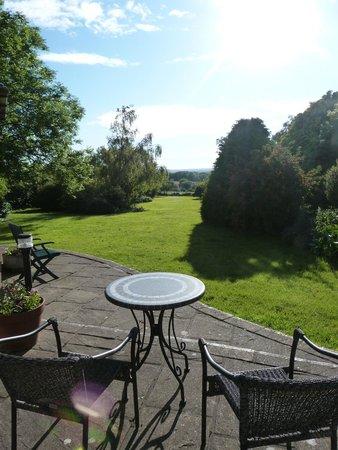Tyn Rhos Country House: Terrace & View from Rear Gardens