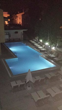 T and G Apartments: pool by night