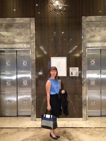 Tiffany & Co. : Inside next to the elevators