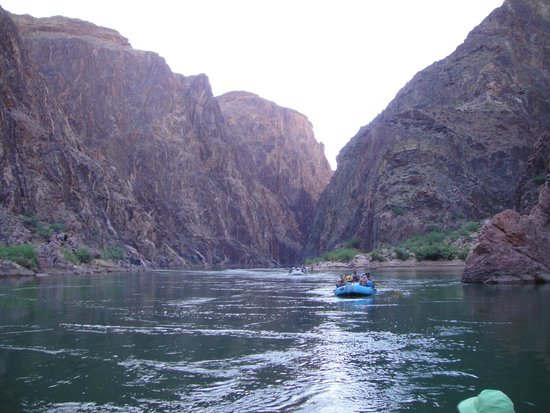 Arizona Raft Adventures: Two Billion Year Old Rocks with seams of Red Granite