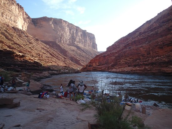 Arizona Raft Adventures: One of our beautiful camp sites