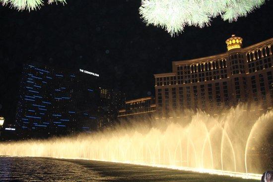 Fuentes del Bellagio: As fontes a noite! (maio 214)