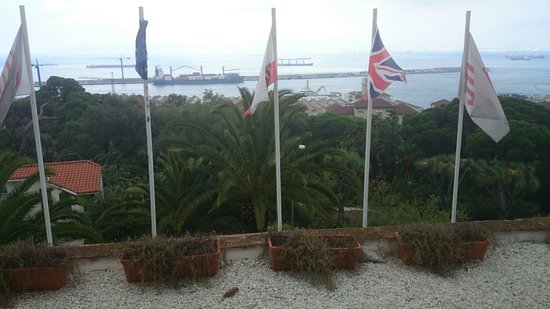 Rock Hotel Gibraltar: View from the terrace restaurant.