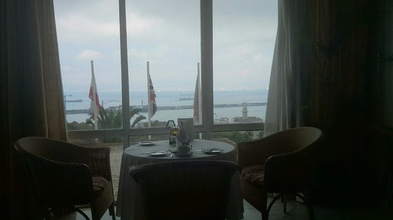 Rock Hotel Gibraltar: A lonely table with a great view