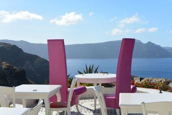 Andronis Luxury Suites: Repas romantique