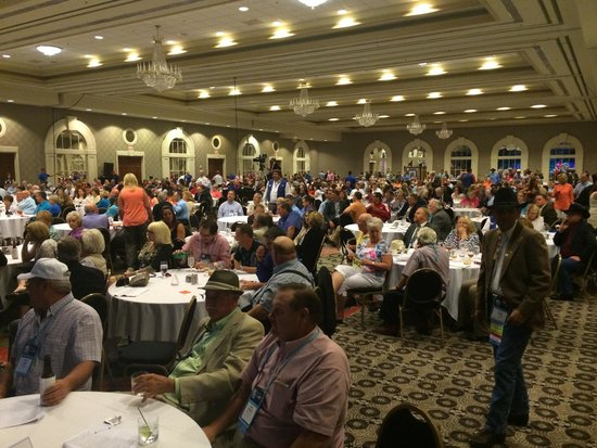 Galt House Hotel: Massive room for conventions.  1200 auctioneers in this photo.