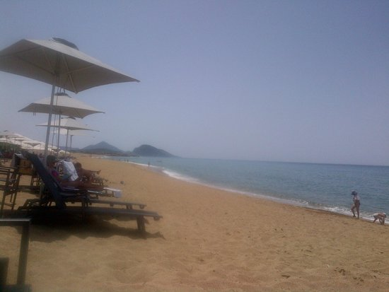 The Romanos Resort, Costa Navarino: the beach