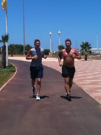 Iberostar Saidia : Running on the beach front, 6k from one end to the other