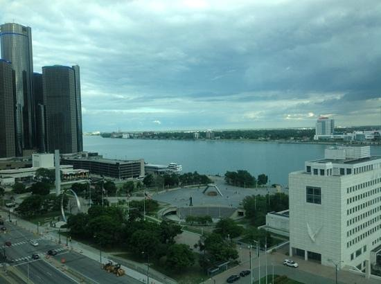 Crowne Plaza Detroit Downtown Riverfront: the view from my room