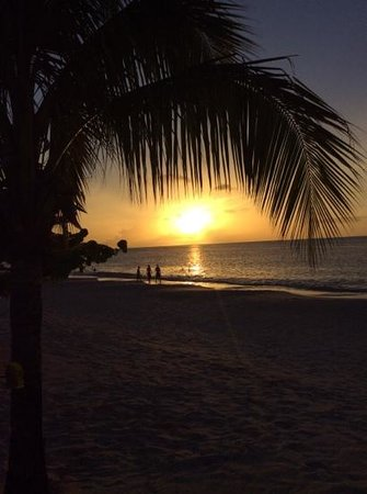Spice Island Beach Resort: Sunset from just outside a sea grape suite