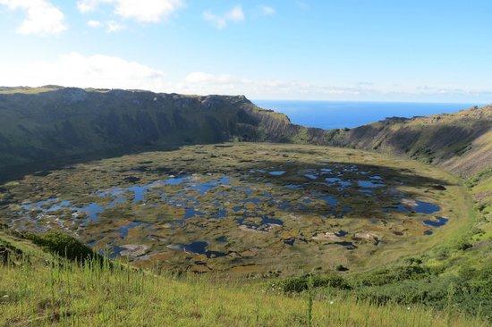 Hotel y Cabañas Tea Nui: Vulcão em Orongo