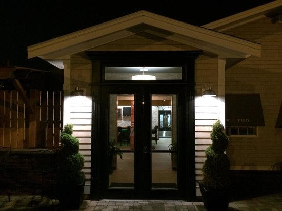 BrewFish Bar and Eatery: Front door...