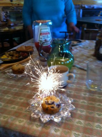 Ores and Mine Bed & Breakfast: The Birthday Muffin from Donna