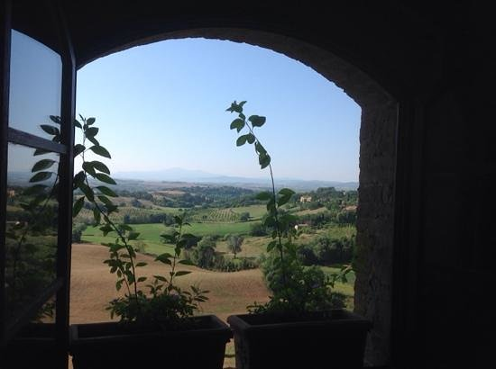 Castello delle Quattro Torra : view from one of our windows in the tower