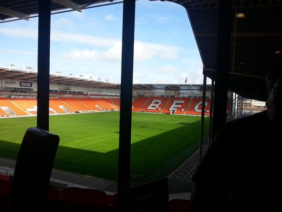 Blackpool FC Hotel: view from the restaurant