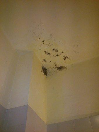 Hotel Morandi : le macchie nel bagno ricavato da una loggia esterna