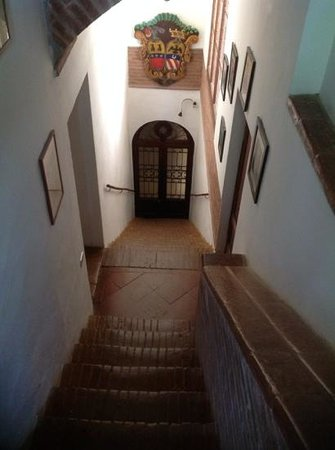 Castello delle Quattro Torra: some of the stairs up to the tower room