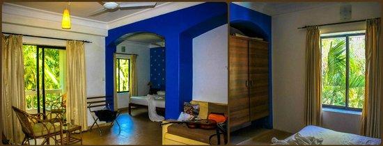 Casablanca: Справа фотка-спальня, слева- вид на спальню, балкон и холл.