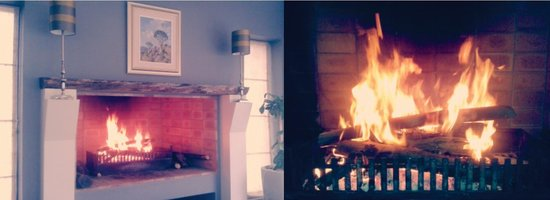 Mont Marie Restaurant: Enjoy the warmth of the crackling fire this chilly season