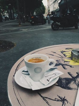 Le Pachyderme: coffee at this place