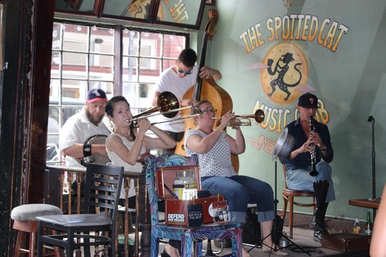 Dixieland Jazz at The Spotted Cat Music Club