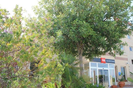 Ibis Jerez de la Frontera: Jardín entrada Hotel