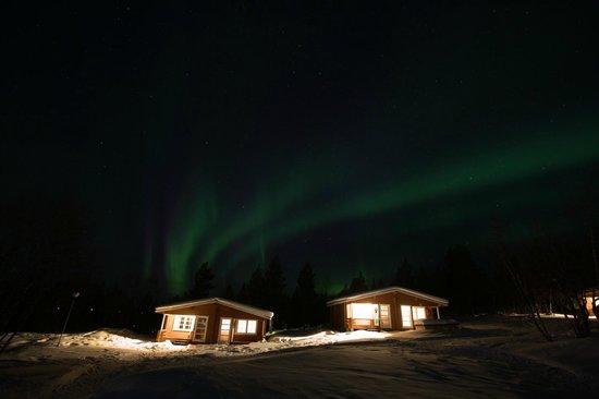 Karesuvanto, Φινλανδία: Northern Lights from the hotel