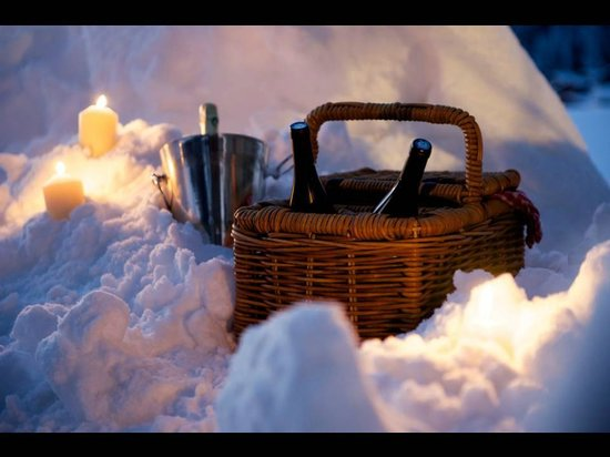 Chalet Perdu : Champagne in the snow