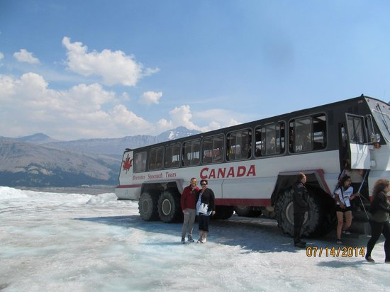 Columbia Icefield Glacier Adventure: Our transportation to the glacier