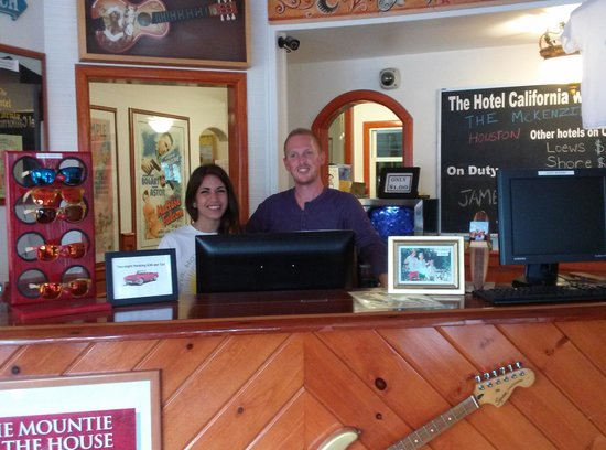 The Hotel California: Katie and James, see you soon and thanks